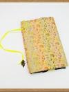 ปกหนังสือผ้าสีเหลืองลายดอกไม้(มีเสริมฟองน้ำ)