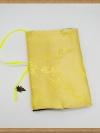 ปกหนังสือผ้าสีเหลืองลายดอกบ๊วย(มีเสริมฟองน้ำ)
