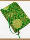 ปกหนังสือผ้าสีเขียวลายโค้ง (มีเสริมฟองน้ำ)