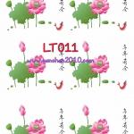 LT011 กระดาษแนพกิ้น 21x30ซม. ลายดอกบัว