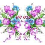 FW028 กระดาษแนพกิ้น 21x30ซม. ลายดอกไม้