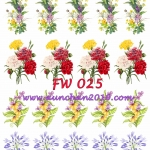 FW025 กระดาษแนพกิ้น 21x30ซม. ลายดอกไม้