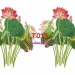 LT013 กระดาษแนพกิ้น 21x30ซม. ลายดอกบัว