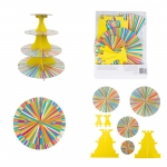Item# 1512-0726 COLOUR WHEEL TREAT STAND