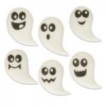 Gunthart Halloween Sugar ghosts, flat, assorted 2847 (1*12) น้ำตาลตกแต่ง