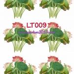 LT009 กระดาษแนพกิ้น 21x30ซม. ลายดอกบัว
