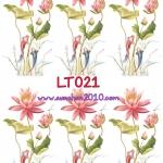 LT021 กระดาษแนพกิ้น 21x30ซม. ลายดอกบัว