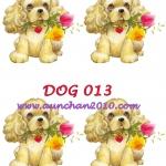 DOG013 กระดาษแนพกิ้น 21x30ซม. ลายสุนัข
