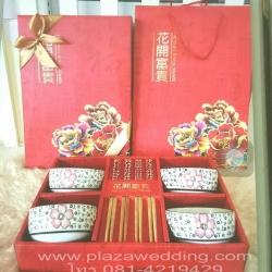 ชุดทานข้าวสไตล์ญี่ปุ่นกล่องแดง (เซทใหญ่ 4 ที่)
