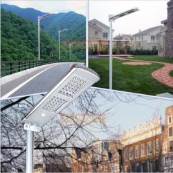 SL02 โคมไฟถนนโซล่าเซลล์อัจฉริยะรุ่น 20W All-in-one solar street light