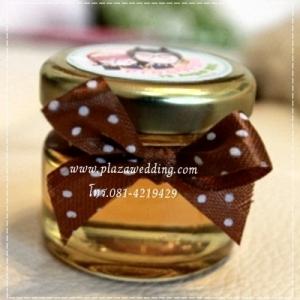 น้ำผึ้ง 1 ออนซ์ ผูกโบว์ ติดสติ๊กเกอร์ที่ฝา