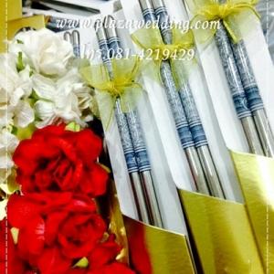 ตะเกียบโลหะลายไทย แพคปลอกกระดาษ