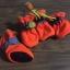 รองเท้าสุนัข รองเท้าแมว สีส้มสะท้อนแสง(4 ข้าง) thumbnail 1