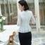 เสื้อสูทแฟชั่น เสื้อสูทสำหรับผู้หญิง พร้อมส่ง สีขาว ผ้าคอตตอน 100 % เนื้อดี คุณภาพงานพรีเมี่ยม thumbnail 3