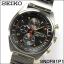 Seiko Men's SNDF91P1 Chronograph Black/Gold Dial Stainless Steel Watch thumbnail 2