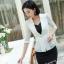 เสื้อสูทแฟชั่น เสื้อสูทสำหรับผู้หญิง พร้อมส่ง สีขาว ผ้าคอตตอน 100 % เนื้อดี คุณภาพงานพรีเมี่ยม thumbnail 2