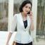 เสื้อสูทแฟชั่น เสื้อสูทสำหรับผู้หญิง พร้อมส่ง สีขาว ผ้าคอตตอน 100 % เนื้อดี คุณภาพงานพรีเมี่ยม thumbnail 1
