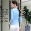 เสื้อสูทแฟชั่น เสื้อสูทสำหรับผู้หญิง พร้อมส่ง สีฟ้า คอปก แขนพับสามส่วน หัวไหล่ยกนิดๆ ไม่มีซับในระบายอากาศได้ค่ะ ติดกระดุมเก๋ เข้ารูปช่วงเอว มีกระเป๋าใช้งานได้ คัตติ้งสวย งานเนี๊ยบ thumbnail 2