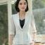 เสื้อสูทแฟชั่น เสื้อสูทสำหรับผู้หญิง พร้อมส่ง สีขาว ผ้าคอตตอน 100 % เนื้อดี คุณภาพงานพรีเมี่ยม thumbnail 5