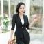 เสื้อสูทแฟชั่น เสื้อสูทสำหรับผู้หญิง พร้อมส่ง สีดำ ผ้าคอตตอน 100 % เนื้อดี คุณภาพงานพรีเมี่ยม thumbnail 1