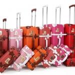กระเป๋าเดินทางวินเทจ รุ่น spring colorful ขนาด 20 นิ้ว