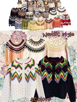 Nordic Style เสื้อคลุม cardigan กันหนาวลายสแกนดิเนเวีย
