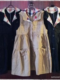 A G plus เสื้อคลุมแจ๊กเก๊ตตัวยาว มี hood สไตล์ญี่ปุ่น