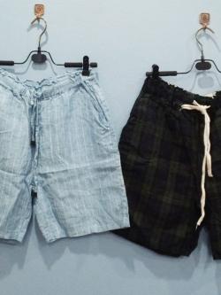 กางเกงขา 3 ส่วน ผ้าฝ้าย เนื้อดี สีธรรมชาติ