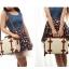 กระเป๋าเดินทางวินเทจ รุ่น retro brown ดำคาดน้ำตาล ขนาด 12 นิ้ว thumbnail 4