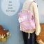 (Genuine) Anello backpack canvas mini pastel colors Lavender สีม่วงอ่อน thumbnail 1