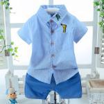 **ชุดเซ็ตกางเกงขาสั้นเสื้อเชิ๊ตรูปยีราฟสีฟ้า size:S-M-L ( 3pcs/pack) | 3ชุด/แพ๊ค | เฉลี่ย 180/ชุด