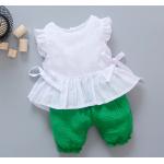 **ชุดเซ็ตกางเกงโจงกระเบนสีเขียวเสื้อแขนกุดขาว   เขียว   M-L-XL-2XL   4ชุด/แพ๊ค   เฉลี่ย 170/ชุด