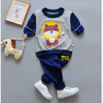 **ชุดเซ็ตรูปหมีน้อยสีเทา กางเกงยาวสีน่ำเงิน size= 55-60-65-70 | 4ชุด/แพ๊ค | เฉลี่ย 150/ชุด