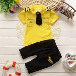 **ชุดเซ็ตเสื้อกัปตันสีเหลือง size=6-8-10-12 (4 pcs/pack) | 4ชุด/แพ๊ค | เฉลี่ย 200/ชุด