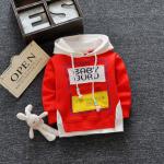 **เสื้อแขนยาว Baby Guru มีหมวก สีแดง size= s-xl   4ตัว/แพ๊ค   เฉลี่ย 200/ตัว