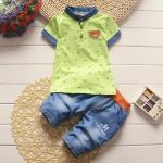 **ชุดเซ็ตกางเกงFashinable สีเขียวตามรูป size=6-8-10-12 (4 pcs/pack) | 4ชุด/แพ๊ค | เฉลี่ย 200/ชุด