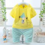 **ชุดเซ็ตเสื้อเหลืองหมีน้อยYummy กางเกงสีเขียวอ่อน size: S-XL (4 pcs/pack) | 4ชุด/แพ๊ค | เฉลี่ย 170/ชุด
