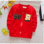**เสื้อแขนยาว 68 หมีน้อย สีแดง S-XL   4ตัว/แพ๊ค   เฉลี่ย 150/ตัว
