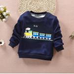 **เสื้อแขนยาวรถไฟสีน่ำเงิน size= S-XL   4ชุด/แพ๊ค   เฉลี่ย 150/ชุด