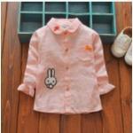 **เสื้อเชิ๊ตกระต่ายตามรูป | ชมพู | Size 8-10-12-14 | 4ตัว/แพ๊ค | เฉลี่ย 160/ตัว