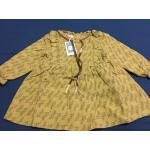 ** เดรสแขนยาวสีเหลืองผ้านิ่มลายใบไม้(ภาพจากผ้าจริง)| เหลือง | size 5-7-9-11 | 4ชุด/แพ๊ค | เฉลี่ย 230/ชุด