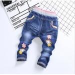 **กางเกงยีนต์ขายาวรูปเด็กหญิงดอกไม้ size= L-4XL (5pcs/pack) | 5ตัว/แพ๊ค | เฉลี่ย 155/ตัว