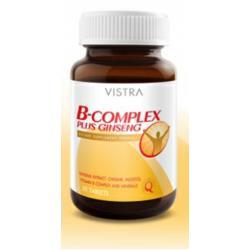วิสตร้า วิตามินบีรวม พลัส โสมสกัด 30 เม็ด (Vistra B - Complex Plus Ginseng)