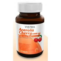 วิสทร้า อะเซโรลา เชอร์รี่ 1,000 mg. 45 เม็ด (Vistra Acerola Cherry)