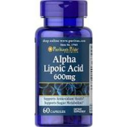 Puritan's Pride Alpha Lipoic Acid 600 mg / 60 Softgels