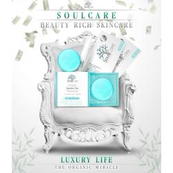Soulcare Duo โซลแคร์ สบู่มาส์กเซรั่ม + เซรั่ม รกกุหลาบ สำหรับคนเป็นสิว 1 เซต