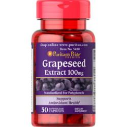PURITAN'S PRIDE :: Grapeseed Extract 100 mg - 50 Capsules ต่อต้านอนุมูลอิสระ ผิวขาวสดใสเปล่งปลั่ง ชะลอความหยาบกร้านของเซลล์ผิว