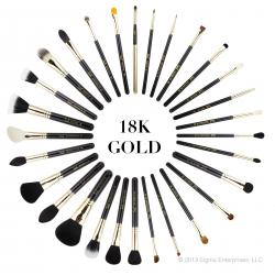 ลด 48 % SIGMA :: Extravaganza Complete Kit ชุดแปรงด้ามทอง 18K สุดหรู 29 ชิ้น พร้อมกระเป๋าหนังอย่างดี