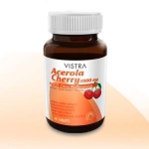 Vistra Acerola Cherry 1000 mg ขนาด 45 แคปซูล สำเนา