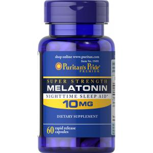 PURITAN'S PRIDE :: MELATONIN 10 mg เมลาโทนิน 10 มิลลิกรัม 60-120 แคปซูล เมลาโทนิน ผ่อนคลาย แก้ปัญหา นอนไม่หลับ เลือกขนาดด้านใน
